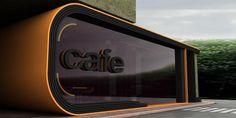 Cafe Bookstore by Natselane , via Behance