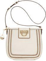 DKNY-dkny handbag vintage leather top zip crossbody