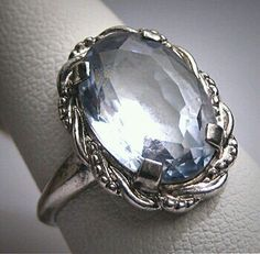 1930's blue spinel ring