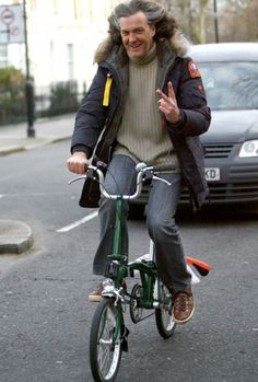 James May 'Top Gear' on a bike