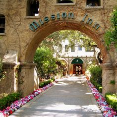 The Mission Inn entry portal, in Riverside, Southern California