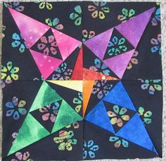 Looking for quilting project inspiration? Check out Carol Doak's Mystery Block of the Month by member Abbyvb. - via @Craftsy