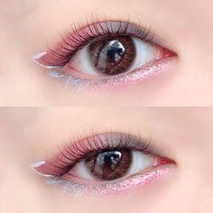 Kiss Makeup, Eye Makeup, Asian Makeup, Make Up, School Makeup, Eyes, Hairstyle, Kawaii, Embroidery