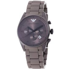 NEW Emporio Armani Men Luxury Watch AR5950 Khaki Chronograph Stainless Steel #EmporioArmani #Casual