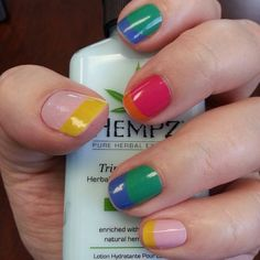 Technicolor tips by Jamberry Nails - love these - they will be on my next order!  Order with me by June 25th to get free shipping! http://heybecca.jamberrynails.net Facebook Group Page: https://www.facebook.com/groups/HeyBecca/