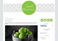Apple Martini Pre Made Blogger or Basic Wordpress by CakedDesigns, $20.00