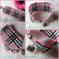 ZoknisPanka Gyöngyei: Pink Burberry karkötő - Pink Burberry bracelet