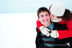 Cute snowy, winter couple engagement picture ideas   Deanna Loren Photography