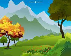 Landscape vector art free