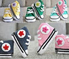 Picture of crocheted high tops