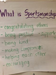 These are ideas that I will use to enhance sportsmanship education (standard Elementary Physical Education, Physical Education Activities, Elementary Pe, Pe Activities, Health And Physical Education, Science Education, Pe Bulletin Boards, Pe Lessons, Health Lessons