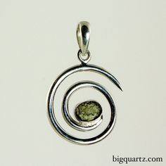 Moldavite Spiral Pendant (Sterling Silver). In the metaphysical world, moldavite may act as a stone of comfort and clarity. Keeping it on your person or wearing it set in jewelry on a daily basis should allow its energies to influence your vibrational field and strengthen its effects.