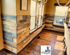 Find This Pin And More On DIY Crafts Rustic Pallet Wainscoting
