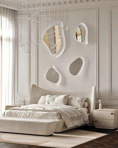 Bedroom Bed Design, Room Ideas Bedroom, Home Room Design, Home Bedroom, Bedroom Decor, Modern Classic Bedroom, Modern Luxury Bedroom, Luxurious Bedrooms, Contemporary Bedroom