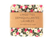 Washcloths – 6 eco-friendly face wipes- BIO – a unique product by THE-ONE-BAG on DaWanda