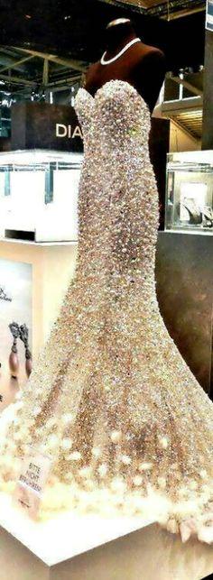 Swarovski crystal gown.