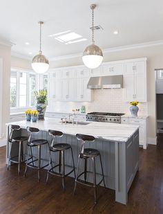island white cabinets black hallie henley design love the contrast of darker floors with white cabinets gray