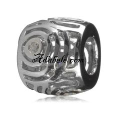 This beautiful wisdom and knowledge clear cz .925 Sterling Silver European charm fits Pandora, Biagi Trollbeads, Chamilia, and most charm bracelets find out more at adabele.com