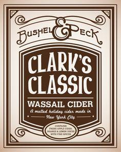 Bushel & Peck Wassail Ciders on Behance