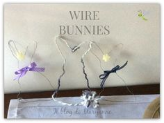 Il blog di Maryanne: Wire Bunnies for Handmade Easter 2016 #handmadeeaster2016 #thecreativefactory