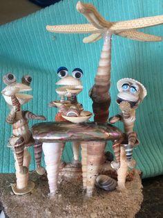Seashell Painting, Seashell Art, Seashell Crafts, Sea Crafts, Nature Crafts, Shells And Sand, Sea Shells, Shell Animals, Deco Marine