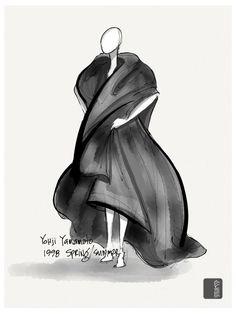 \ yohji yamamoto sketches ♡ #yohjiyamamoto,#Blingz