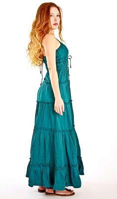 Long Dress, Heavenly Beautiful and so Comfortable in deep Aqua, via Etsy.