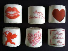Valentine's Day jumbo custom logo personalized marshmallows by FeteSetter