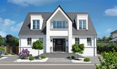 Finden Sie Inspiration in unserer Galerie - Laumans Premium Dachziegel Style At Home, New Homes, Exterior, House Styles, Gardens, Inspiration, Home Decor, Home, Roof Tiles