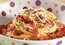 Bacon, Linguini & Tomato Toss - The Pampered Chef™Add shrimp to kick it up a notch or leave it. It's amazing! (One skillet dinner!)