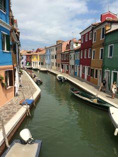 Burrano, Italy - island in the Venice lagoon