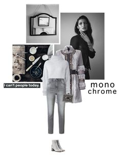 """""""'' Common sense is not a gift, it's a punishment. Because you have to  deal with everyone who doesn't have it. ''"""" by crazydita ❤ liked on Polyvore featuring Joe's Jeans, Matthew Williamson, Le Kasha, Golden Goose, ALDO, Gianvito Rossi and monochrome"""