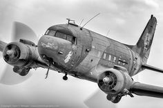 "Douglas AC-47 ""Spooky"" gunship (aka ""Puff the Magic Dragon"") Vietnam era…"