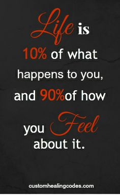 How you 'Feel' about what you do can be more important than what you actually do.