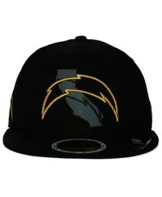 New Era Los Angeles Chargers State Flective Metallic 59FIFTY Fitted Cap -  Black 6 7 8 8ac35952aa9