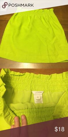 0 high waisted lime green skirt Good condition just doesn't fit J. Crew Skirts