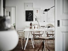 A stunning Swedish apartment in neutrals #home #interior