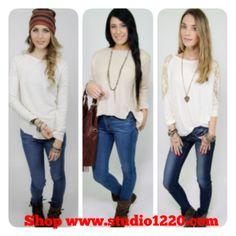 Studio 1220's Cream of the Crop! #studio1220 #socalbohochicandbeyond #creamofthecrop #winterwhite #fashion #ootd #sweater www.studio1220.com