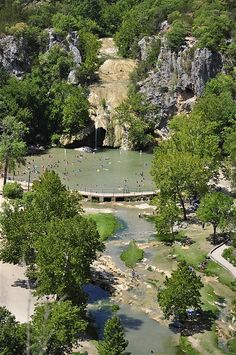 Turner Falls Oklahoma - Mom, Mike and I stayed at this huge national park a few years ago. It's a wonderful site with swimming, nature, hiking, vintage rock buildings and more. Definitely a place I would go back to!