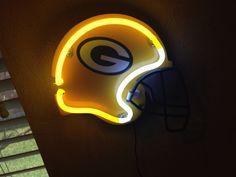 Green Bay Packers Neon Light Up Helmet