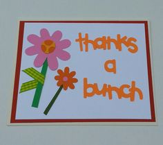 Thanks a Bunch Handmade Greeting Cards by DebsDooDadsShop on Etsy