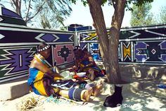 Ndebele body ornaments and house painting.