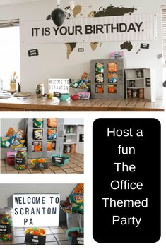The Office Themed Party Ideas - Food Meme - Host a fun The Office Themed Party. The post The Office Themed Party Ideas appeared first on Gag Dad. 50th Birthday Party Themes, Birthday Board, 13th Birthday, Birthday Ideas, Humor Birthday, Birthday Recipes, Husband Birthday, Office Birthday Decorations, Teenager Birthday