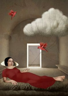 Digital Illustrations of Serenity and Nature Daria Petrilli's Digital Illustrations of Serenity and Nature Daria, Art Painting, Surrealist, Surreal Art, Contemporary Artists, Digital Illustration, Whimsical Art, Art, Surrealism Painting