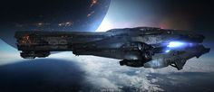 Mecha and More | run2damoon:   Spaceship by  Lownine .