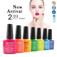 1pc*7.3ml CANNI New Colors Gel Polish Organic Enamels Nail Art Salon Long Lasting Base Top Coat Soak off UV LED Nail Gel Varnish