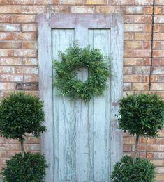 Double door wreathGreen WreathSpring Wreath All Year   Etsy