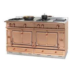 """Copper Appliances Kitchen 36"""" bluestar precious metals copper range in a country chic"""