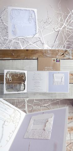 laser cut winter wedding invitation Creative Wedding Stationery From Mr. ( could use the cricket for a personal design????)
