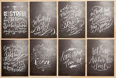 I love Lindsay Letters. Professionally printed and sized at for Project Life. Or you could gift as beautiful bookmarks. Scripture Chalkboard Art, Scripture Cards, Bible Verses, Chalkboard Lettering, Chalkboard Ideas, Lettering Design, Hand Lettering, Lindsay Letters, Chalk Design